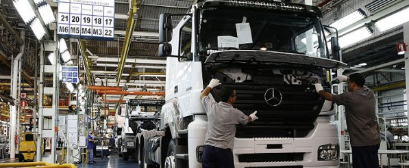 Mercedes Benz Actros 597x246 Actros production boost in Brazil to satisfy truck demands