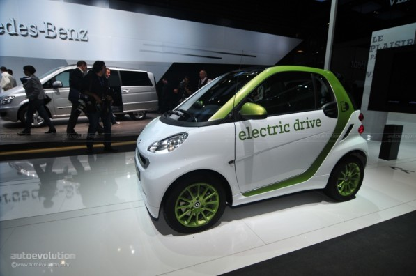 2010 paris auto show smart fortwo electric drive 24953 1 597x396 Smart Fortwo Electric Drive to be Featured in 2010 Paris Auto Show