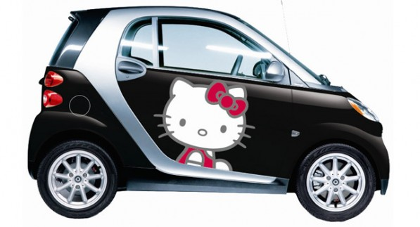 Hello Kitty Smart Fortwocarscoop 3 597x323 Hello Kitty Designs for Smart ForTwo