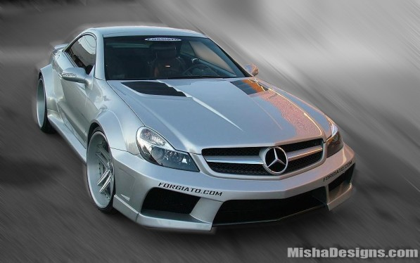 MISHA DESIGNS MERCEDES SL WIDEBODY KIT2 597x374 Misha designs wide body kit for the SL