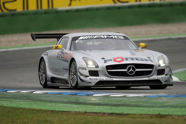 mercedes benz sls amg gt3 customer teams test drives coming 25294 1 597x398 SLS AMG GT3 up for VLN testing