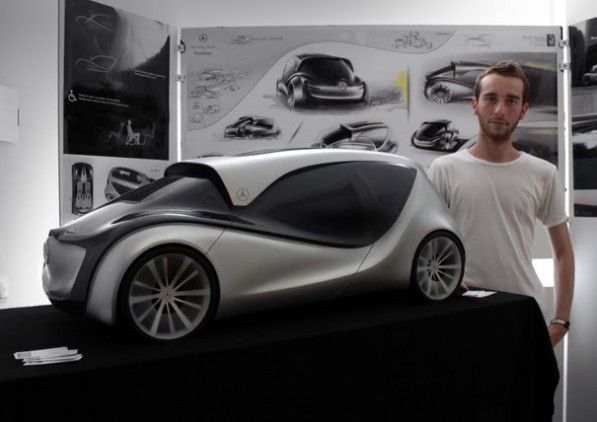 MercedesbenzNimbus04 597x422 Internship grad designs taxi of the future