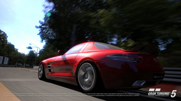 Mercedes SLS AMG Gullwing GT5 31 597x335 Playstation Signature Edition Challenge To Give Away Brand New SLS AMG