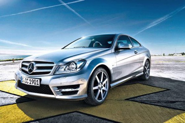 03 c class 597x397 Official images of the Mercedes Benz C Class Coupe get leaked