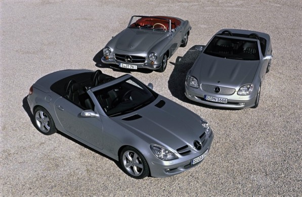 55slk 597x390 Mercedes Benz Open Air Motoring Celebrates 55 Years