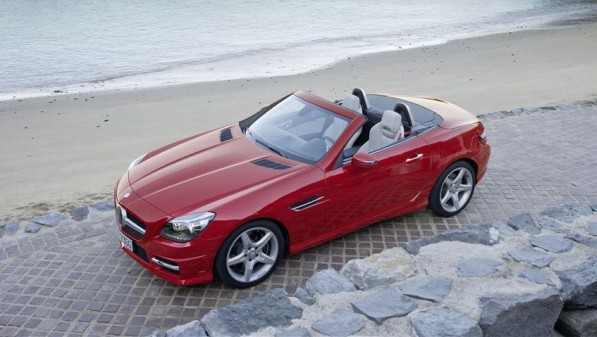 Mercedes Benz SLK Roadster 597x337 Official: The new Mercedes Benz SLK Roadster