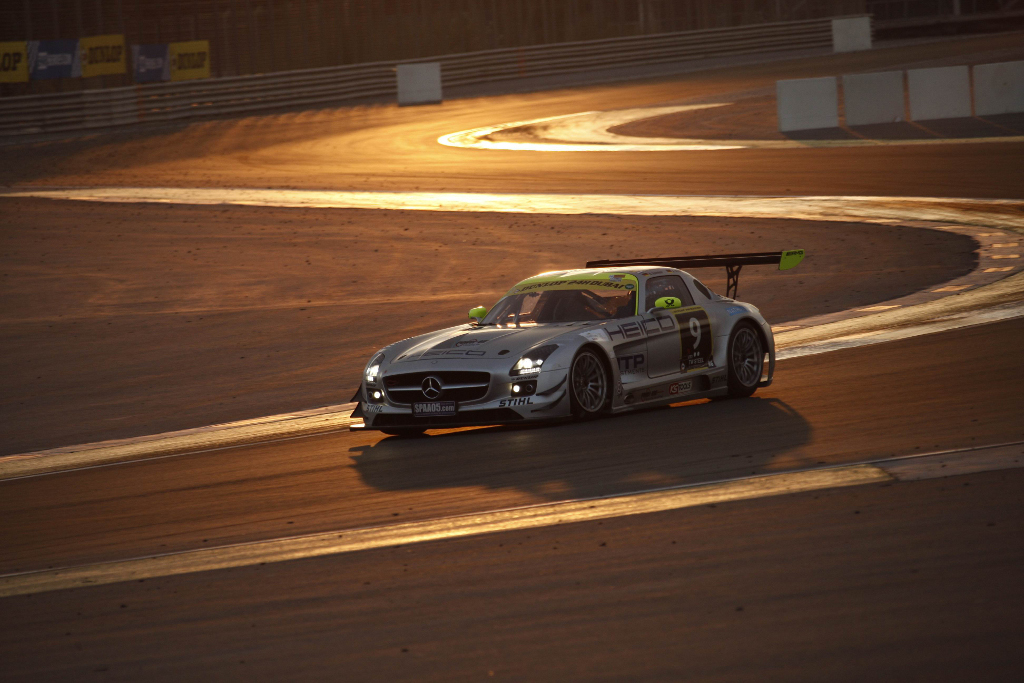 The SLS AMG GT3 at the Dubai 24-Hours race