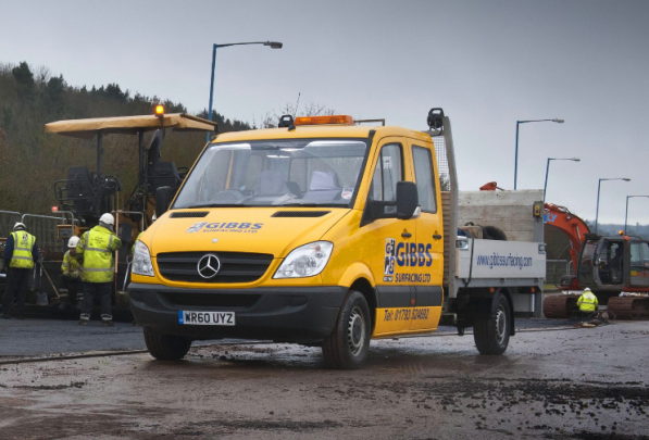 gibss sprinter 597x405 Gibbs Surfacing Acquires New Sprinter Vans