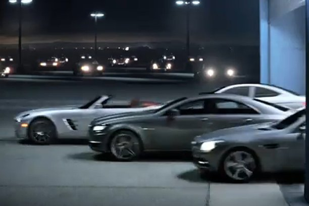 MBSuperbowl Elegant SLS Cabriolet And C Class Coupe Preview At The Superbowl