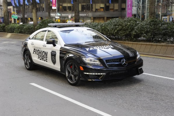 cls63amg fashionforce 04 597x397 CLS 63 AMG Fashion Force Patrols NYC in Pursuit of Style