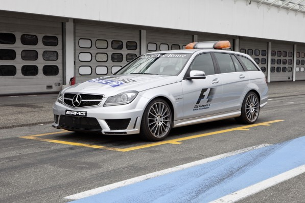 2011 F1 MedicalCar 02 597x397 F1 Taps 2012 C63 AMG Estate as Medical Car
