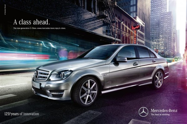822003 1516228 4134 2756 11A264 Custom 597x397 Mercedes Benz launches campaign to promote new gen C Class
