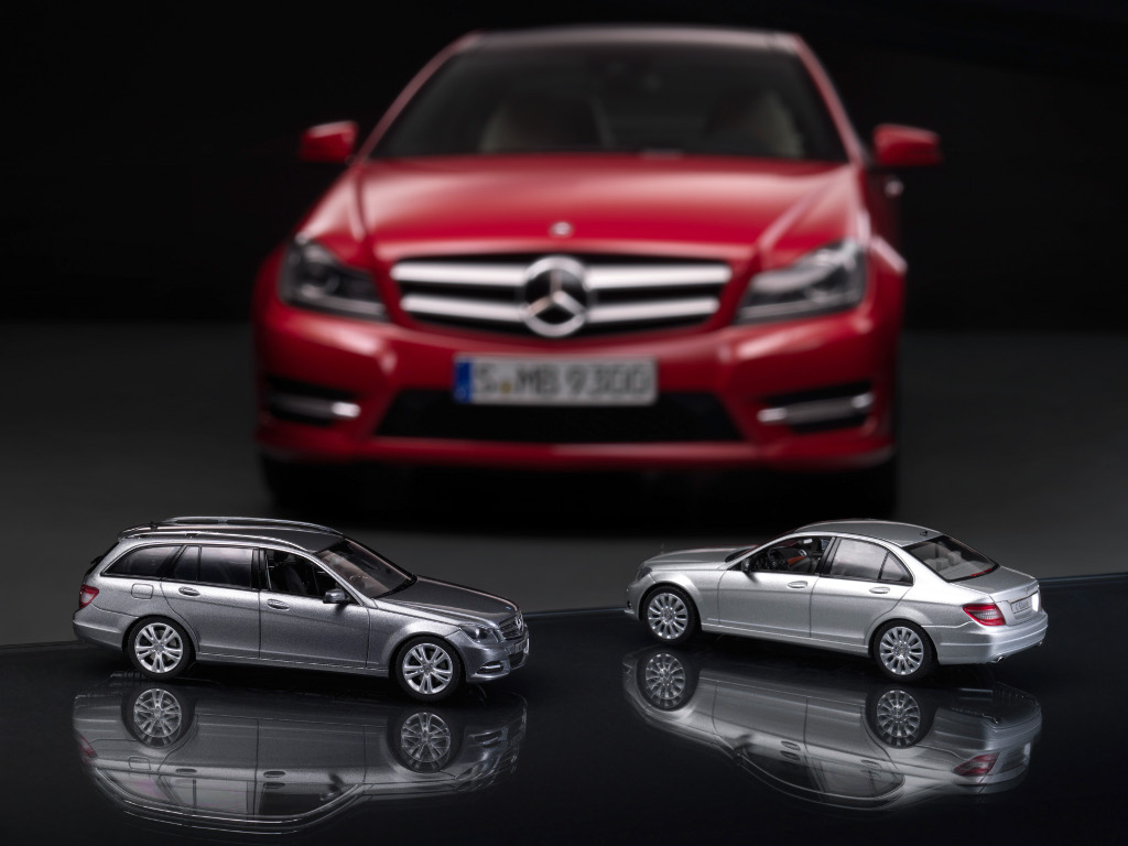 Modellautos SLK- und C-Klasse