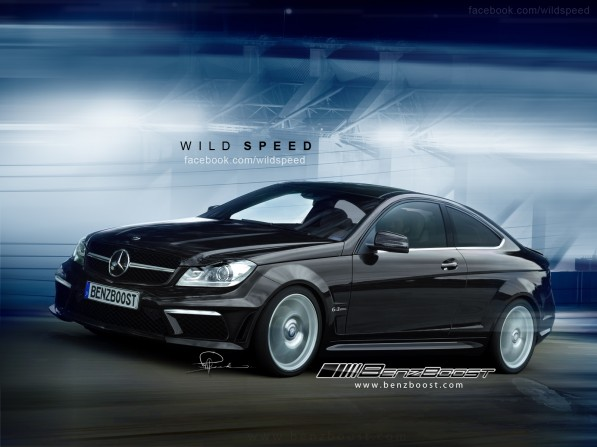 C63AMGBSCoupe rendering 01 597x447 C63 AMG Black Series Coupe Rendered by BenzBoosts Wild Speed