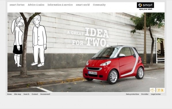"smartfortwo greatidea 597x378  Smart Fortwo ""A big idea for…"" Campaign Launched"