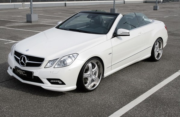 w207 1tlg satinwhite 1 597x388 MEC Design Preps E 350 CDI for Summer