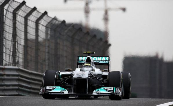 mercedesGP chineseGP 597x368 Mercedes GP Petronas Finishes Fifth, Eighth at Chinese Grand Prix