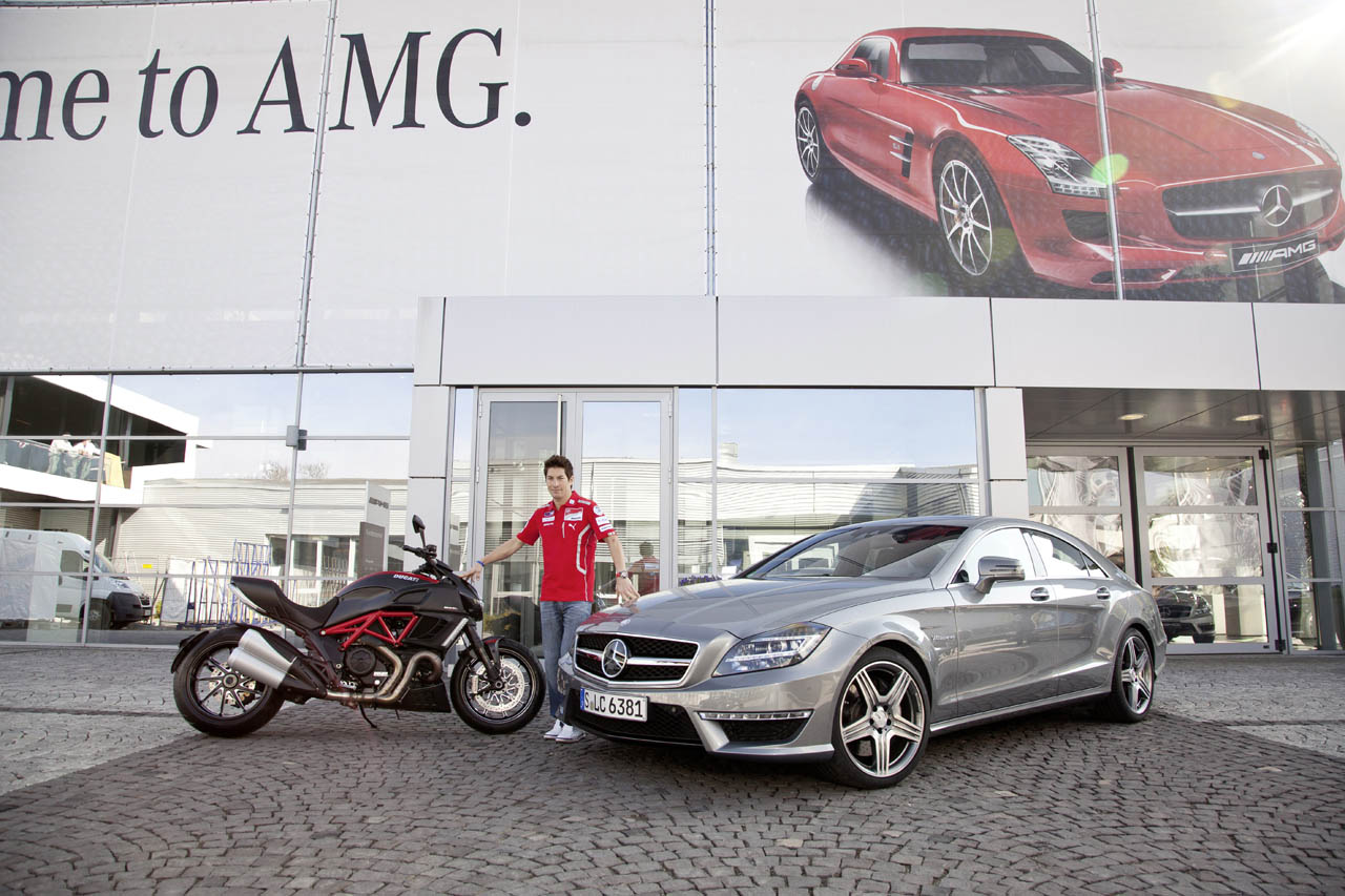... cls63 amg 597x397 Nick Hayden gets keys to his brand new CLS 63 AMG