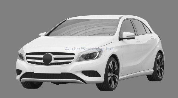 004 mercedes benz a class drawings 597x331 2012 Mercedes Benz A Class revealed in patent images