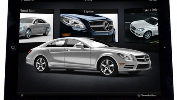 2012 mercedes benz cls klasse gets its own ipad app 35724 1 597x338 iPad App Allows Users To Configure Their Own CLS