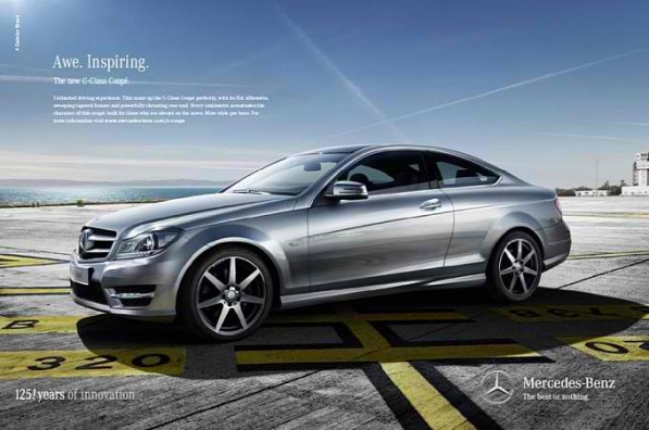 C Klasse Coupe brings more style per hour1 597x396 Drive & Seek campaign for the C Class