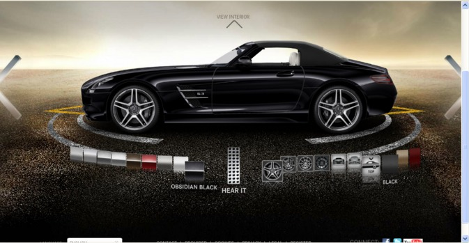 SLS AMG Roadster Configurator Online Configurator for the Mercedes Benz SLS AMG Roadster