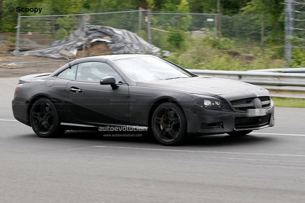 spyshots 2013 mercedes benz sl63 amg medium 2 597x397 2013 SL63 Shows Up At The Nurburgring