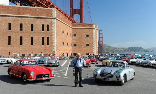 webgoldengate gullwings 597x359 Mercedes Gull Wing Group Reunites In SF After 50 Years