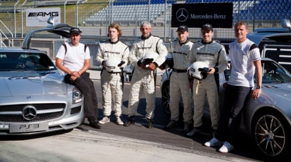 Mercedes Benz GT5 Driving Challenge11 597x333 24 Year Old Student Won an SLS AMG