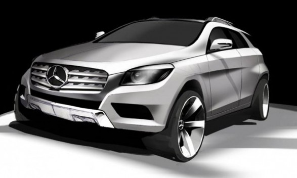 Mercedes MLC Coupe Crossover 2014 587x352 M Class Based MLC To Battle BMWs X6