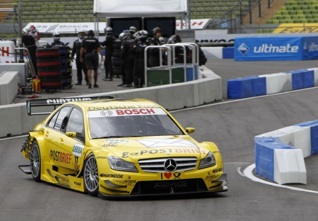 mercedes benz dtm munich 1 Bruno Spengler Best in Mercedes Group and Second Overall
