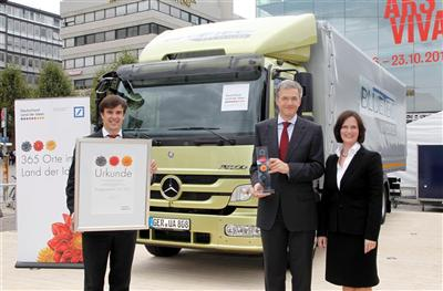 365 Landmarks in the Land of Ideas Winner is the Mercedes-Benz Atego