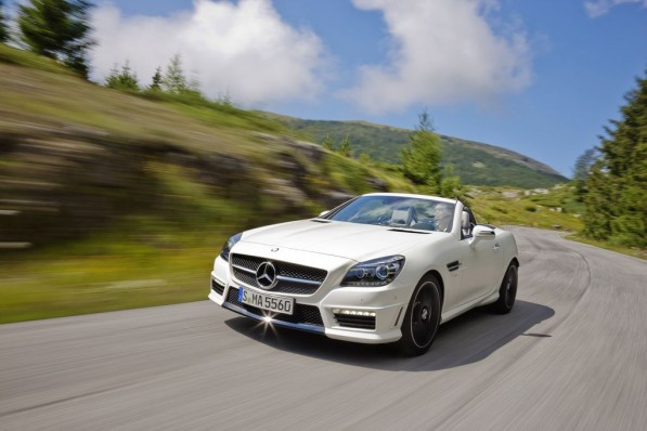 Mercedes Benz SLK55 AMG15 597x398 The most dangerous places to drive in the UK