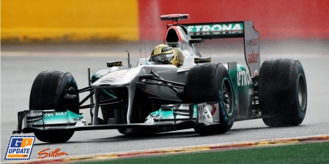 Michael Schumacher Crashed at the F1 Qualifying in SPA