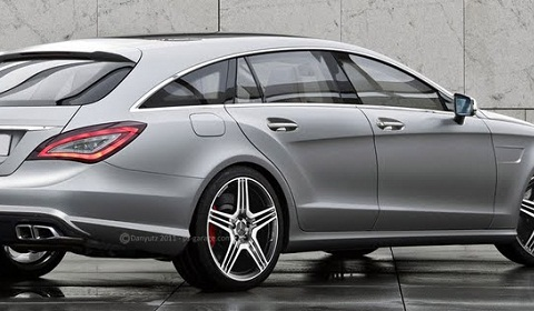 2012 Mercedes Benz CLS 63 AMG Shooting Brake CLS63 AMG Shooting Brake Rendered