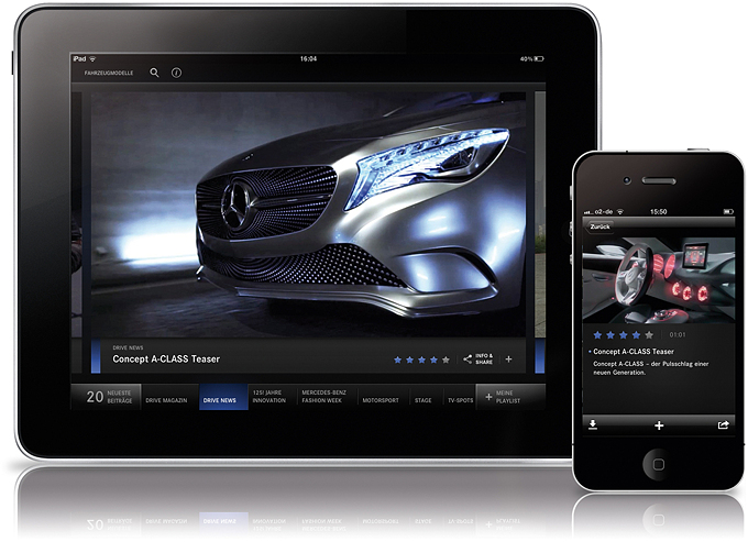 Mercedes Benz.tv Apps Got the Interface Design Award 4 Mercedes Benz Apps Got the Interface Design Award from Red dot