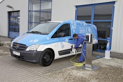 Zero Emission Refrigerator Van by Kerstner and Mercedes-Benz Vito E-Cell