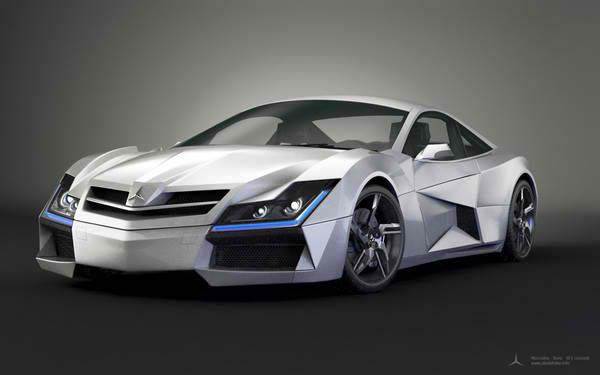 Designer Steel Drake S Mercedes Benz Sf1 Concept Car