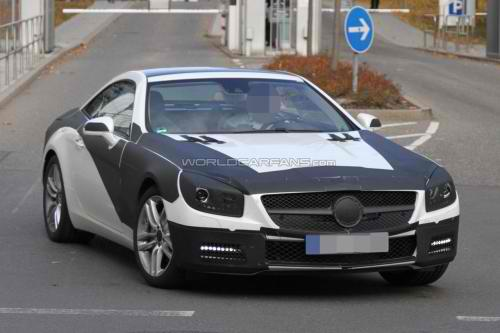The Latest Spyshots of the 2012 Mercedes SL3