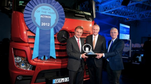 actros2012 597x335 Actros Named 2012 International Truck of the Year