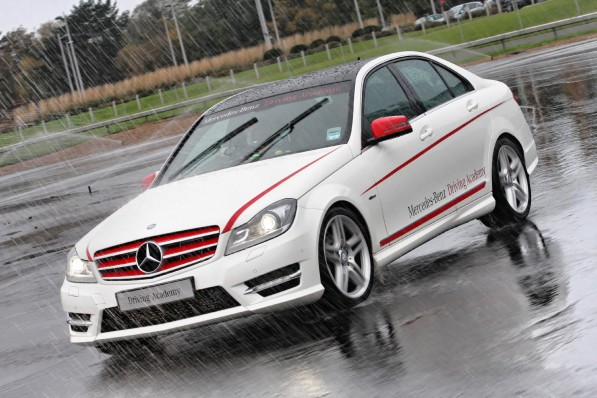 mercedes 40375 1 597x398 M B Winter Driving Course Launched In UK