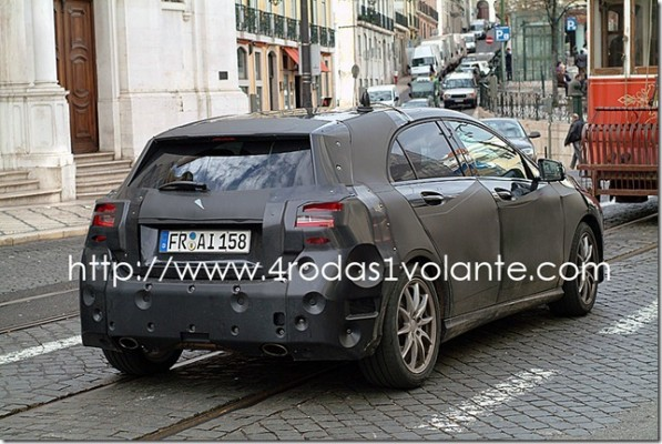 mercedes benz a class test mule spy shots 597x400 A Mercedes Benz A Class or Porsche?