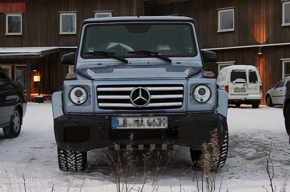 Spyshots of the Facelifted Mercedes G65 and G55 AMG6 597x397 Spyshots of the Facelifted Mercedes G65 and G55 AMG