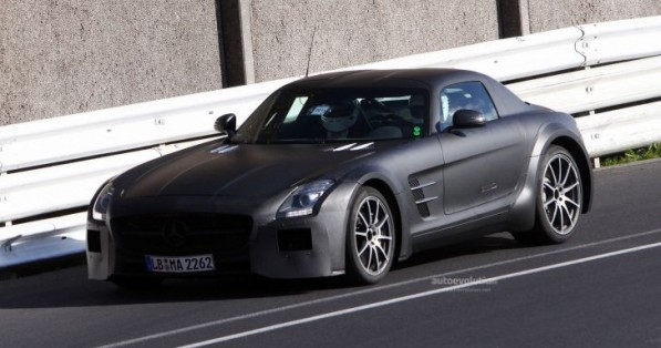 mercedes sls black series will have 650 hp roadster version 41230 7 597x314 Mercedes SLS Black Series To Be Available In 2013