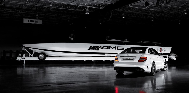 Cigarette Racing Boat Inspired by the C63 AMG Black Series Cigarette Racing Boat Inspired by the C63 AMG Black Series