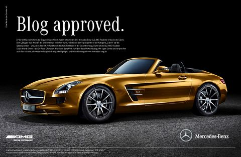German Bloggers Voted for Mercedes SLS AMG Roadster as the Best