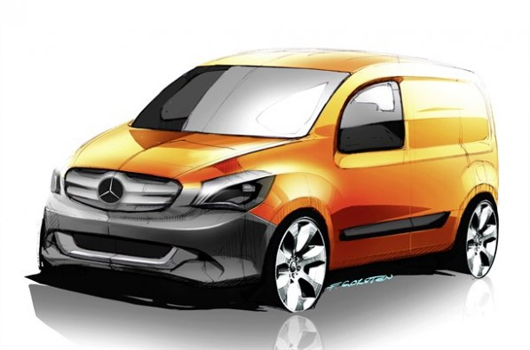 Mercedes Reveals its New Van Mercedes Citan 597x395 Mercedes Reveals  its New Van   Mercedes Citan
