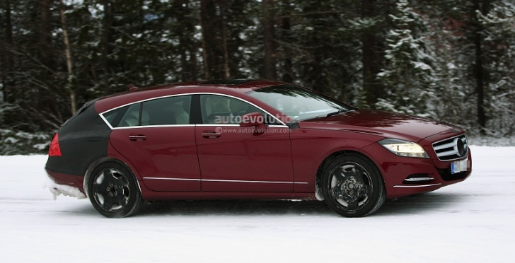 Spyshots of the 2013 Mercedes Benz CLS Shooting Brake