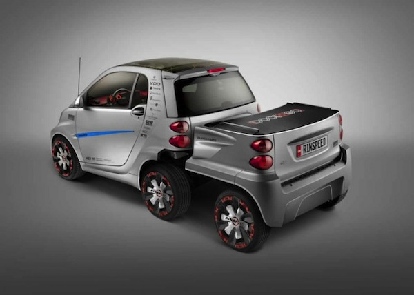 Smart Fortwo Ed With Two Extra Wheels By Rinspeed