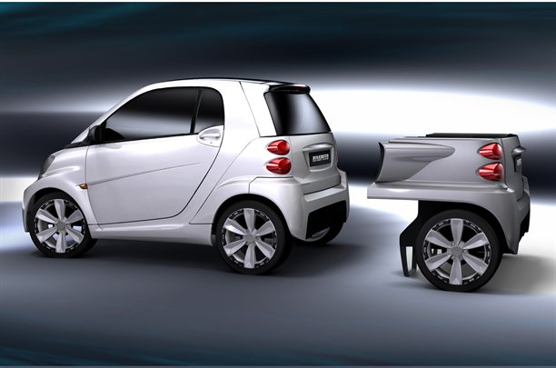 smart fortwo ED with Two Extra Wheels by Rinspeed2